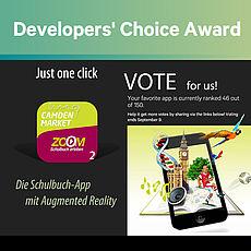 Bitte abstimmen für die Schulbuch-App von KIDS interactive